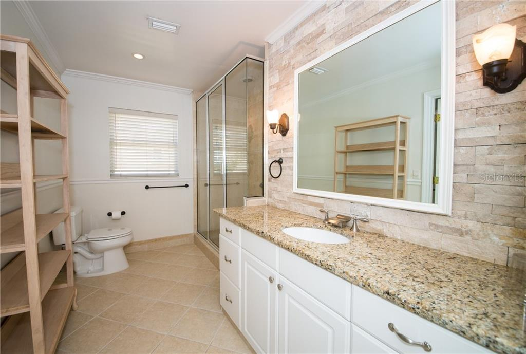 Second Level Bath with Walk-In Shower - Single Family Home for sale at 2405 Avenue A, Bradenton Beach, FL 34217 - MLS Number is A4433128