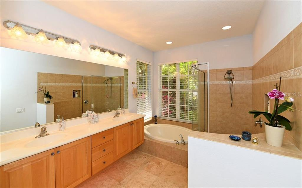 Light and bright master bath - Single Family Home for sale at 3525 White Ln, Sarasota, FL 34242 - MLS Number is A4433441
