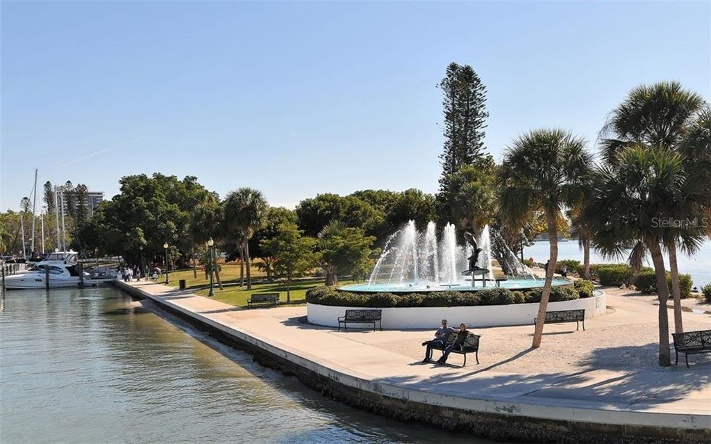 A walking path around the bayfront - Condo for sale at 1350 Main St #1500, Sarasota, FL 34236 - MLS Number is A4433444
