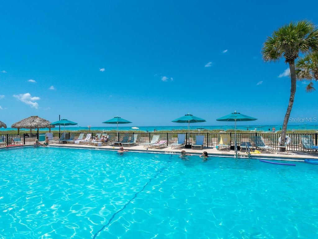 Gulf side community pool. - Condo for sale at 4621 Gulf Of Mexico Dr #14d, Longboat Key, FL 34228 - MLS Number is A4435849