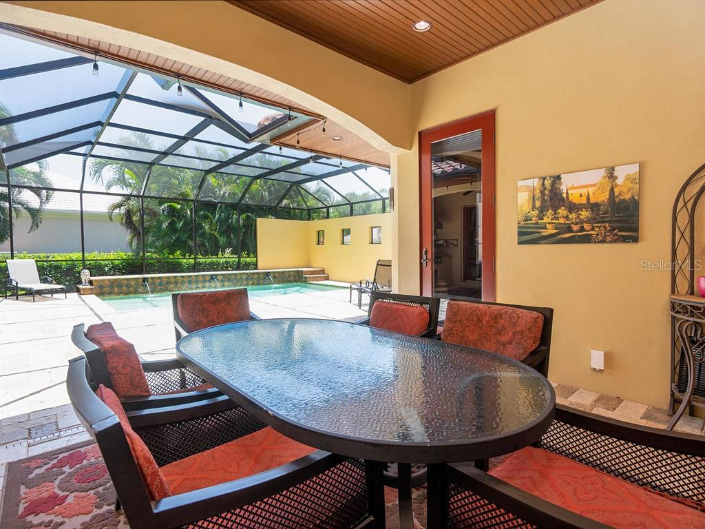 Spacious covered and screened lanai - Single Family Home for sale at 158 Puesta Del Sol, Osprey, FL 34229 - MLS Number is A4439362