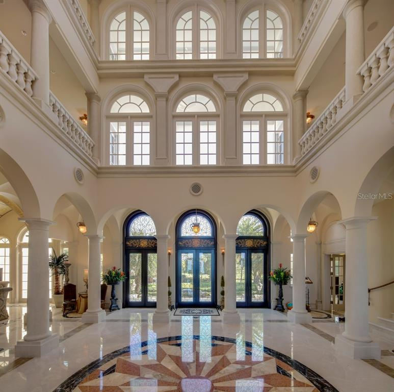 Dome at the top of the interior atrium - Single Family Home for sale at 845 Longboat Club Rd, Longboat Key, FL 34228 - MLS Number is A4440615