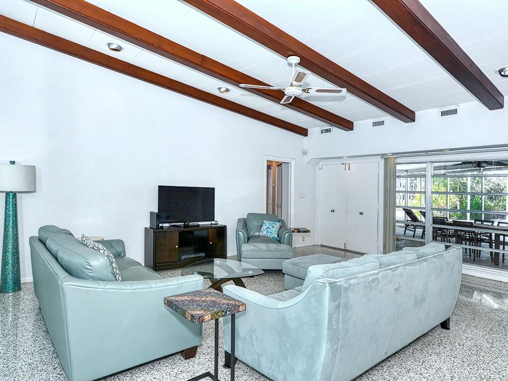 Spacious Living Room - Single Family Home for sale at 225 John Ringling Blvd, Sarasota, FL 34236 - MLS Number is A4443640