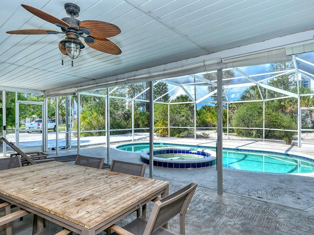 Pool/Spa - Cage & Covered Lanai - Single Family Home for sale at 225 John Ringling Blvd, Sarasota, FL 34236 - MLS Number is A4443640