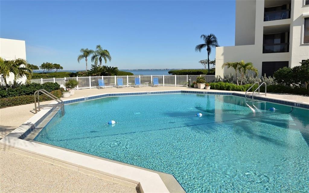 One of 2 Heated Pools - Condo for sale at 2020 Harbourside Dr #422, Longboat Key, FL 34228 - MLS Number is A4449537