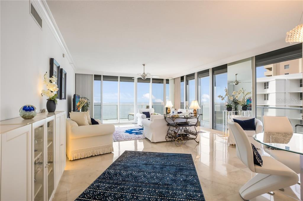 Open floorplan with full gulf views. - Condo for sale at 1800 Benjamin Franklin Dr #B506, Sarasota, FL 34236 - MLS Number is A4451047