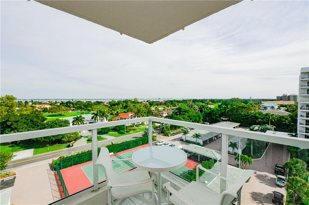 Panoramic Vistas from Main Balcony to Southeast and City Skyline. - Condo for sale at 1050 Longboat Club Rd #803, Longboat Key, FL 34228 - MLS Number is A4454175