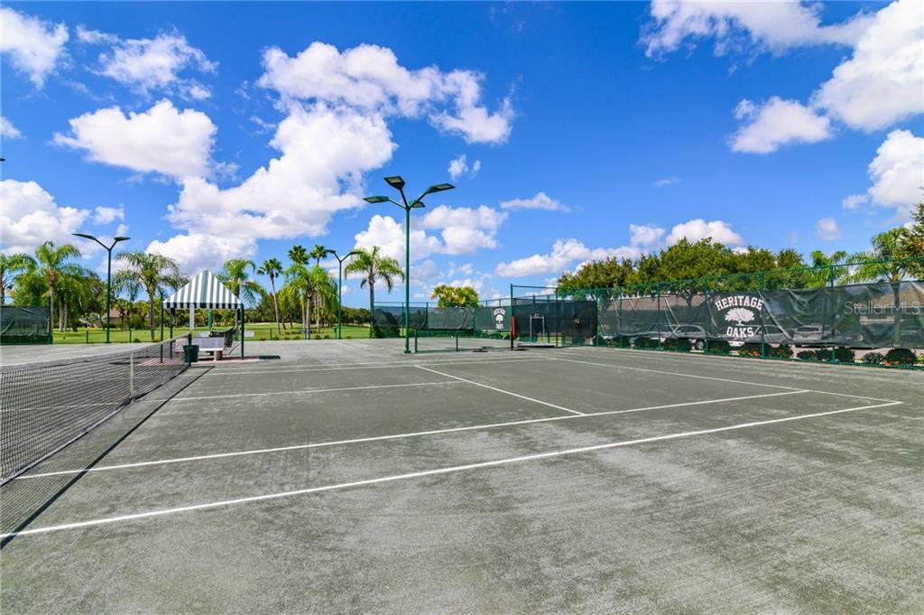 One of Four Har-tru Tennis Courts - Villa for sale at 4560 Samoset Dr, Sarasota, FL 34241 - MLS Number is A4455487