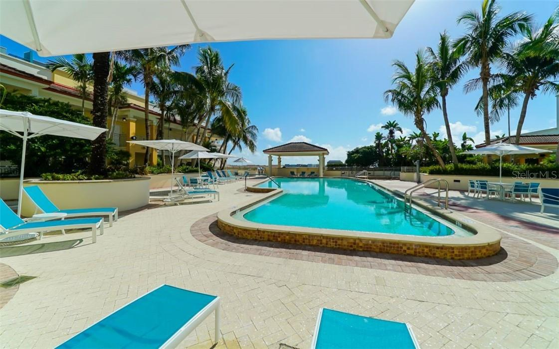 Common room off the pool area for larger gatherings - Condo for sale at 100 Central Ave #A304, Sarasota, FL 34236 - MLS Number is A4458873