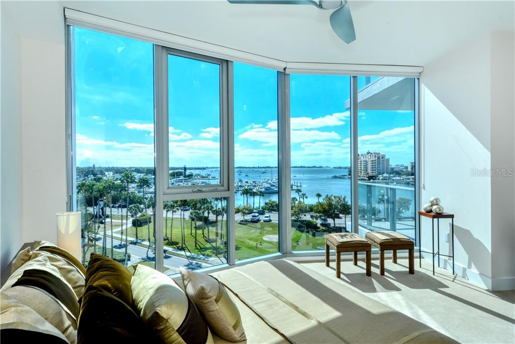 MASTER BEDROOM - Condo for sale at 1155 N Gulfstream Ave #507, Sarasota, FL 34236 - MLS Number is A4458926