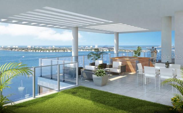 An indulgent private rooftop terrace, exclusive to this Grand Penthouse. - Condo for sale at 605 S Gulfstream Ave #Ph18, Sarasota, FL 34236 - MLS Number is A4458982