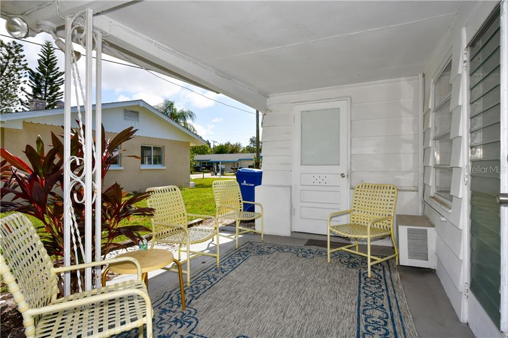 Rear porch - Single Family Home for sale at 2703 Trinidad St, Sarasota, FL 34231 - MLS Number is A4460680