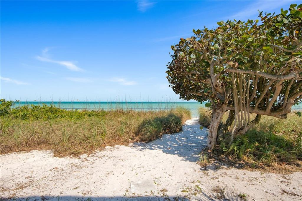 Private walkway from the home to the beach - Single Family Home for sale at 710 S Bay Blvd, Anna Maria, FL 34216 - MLS Number is A4461640