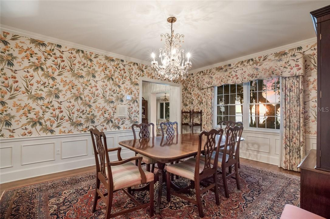 Enjoy formal dining with the sunset over your shoulder!  A4461744 117 N 18th St W - Single Family Home for sale at 117 N 18th St W, Bradenton, FL 34205 - MLS Number is A4461744