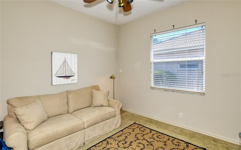 Large den can accommodate sleeper sofa - Villa for sale at 4605 Samoset Dr, Sarasota, FL 34241 - MLS Number is A4463082