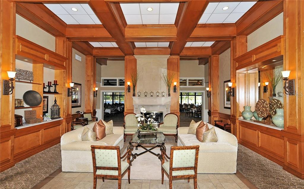 Clubhouse entry & dining beyond - Villa for sale at 4605 Samoset Dr, Sarasota, FL 34241 - MLS Number is A4463082