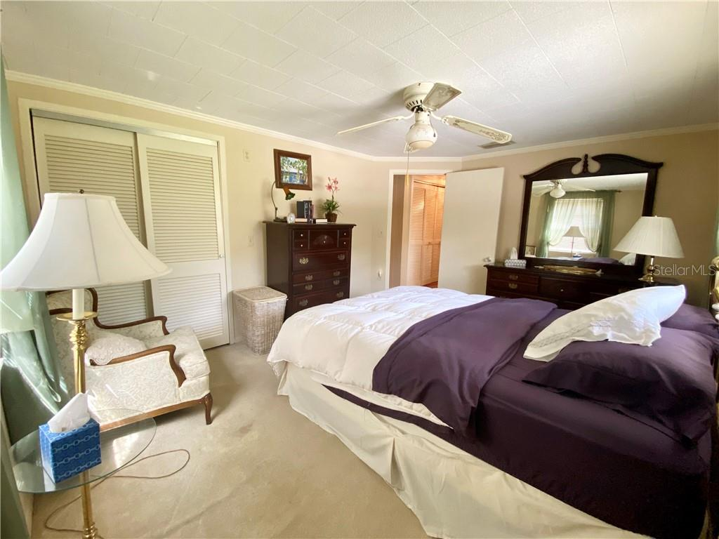 Bedroom at the end of the hall. - Single Family Home for sale at 4300 Eastern Pkwy, Sarasota, FL 34233 - MLS Number is A4464200