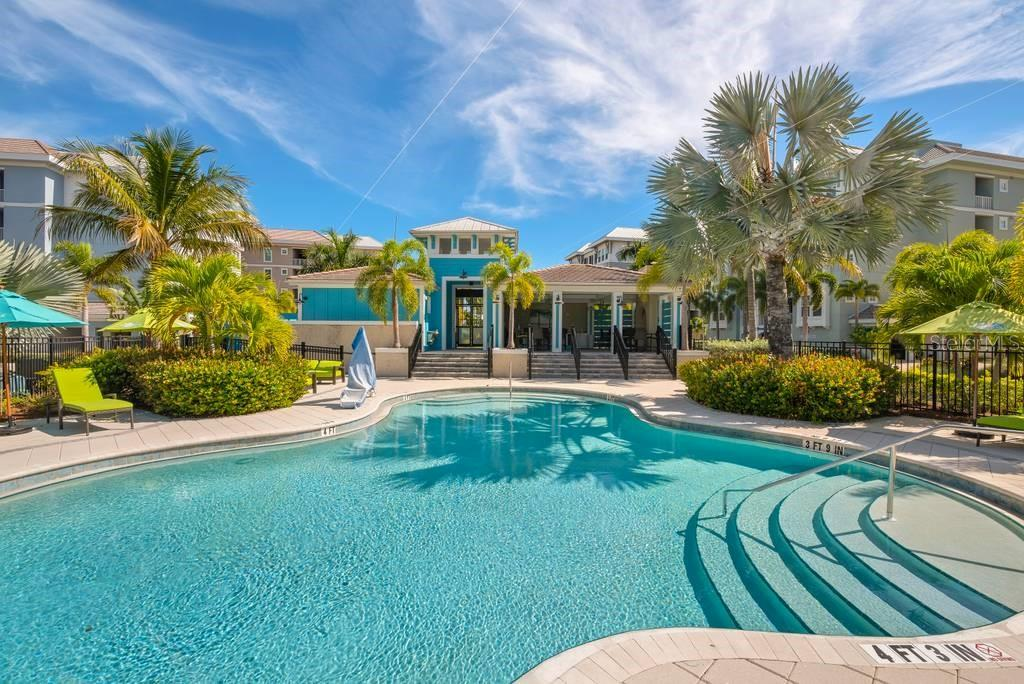 Gorgeous swimming pool - Condo for sale at 383 Aruba Cir #201, Bradenton, FL 34209 - MLS Number is A4466540