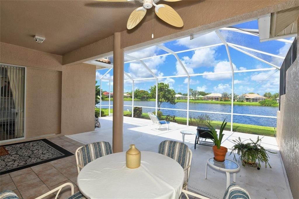 Extended, screened lanai. - Villa for sale at 4590 Samoset Dr, Sarasota, FL 34241 - MLS Number is A4471881