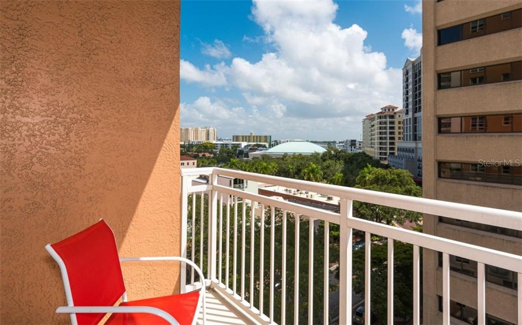 Terrace off the dining room - Condo for sale at 1350 Main St #701, Sarasota, FL 34236 - MLS Number is A4472236