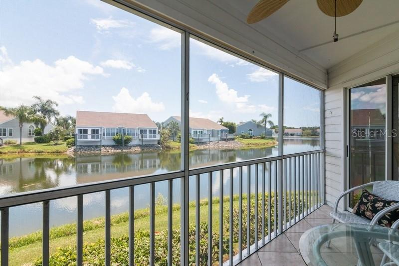 Lanai overlooking lagoon. - Condo for sale at 977 Sandpiper Cir #977, Bradenton, FL 34209 - MLS Number is A4474554