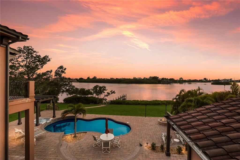 View from the upstairs patio. - Single Family Home for sale at 4925 Topsail Dr, Nokomis, FL 34275 - MLS Number is A4475116