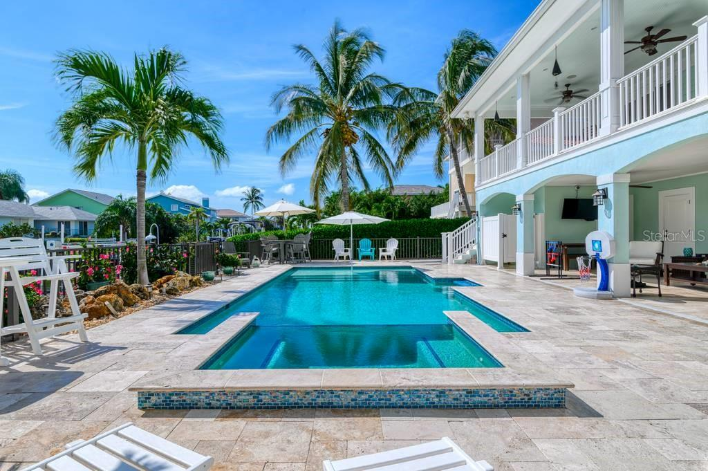 Propane heated saltwater pool and spa. - Single Family Home for sale at 718 Key Royale Dr, Holmes Beach, FL 34217 - MLS Number is A4480381