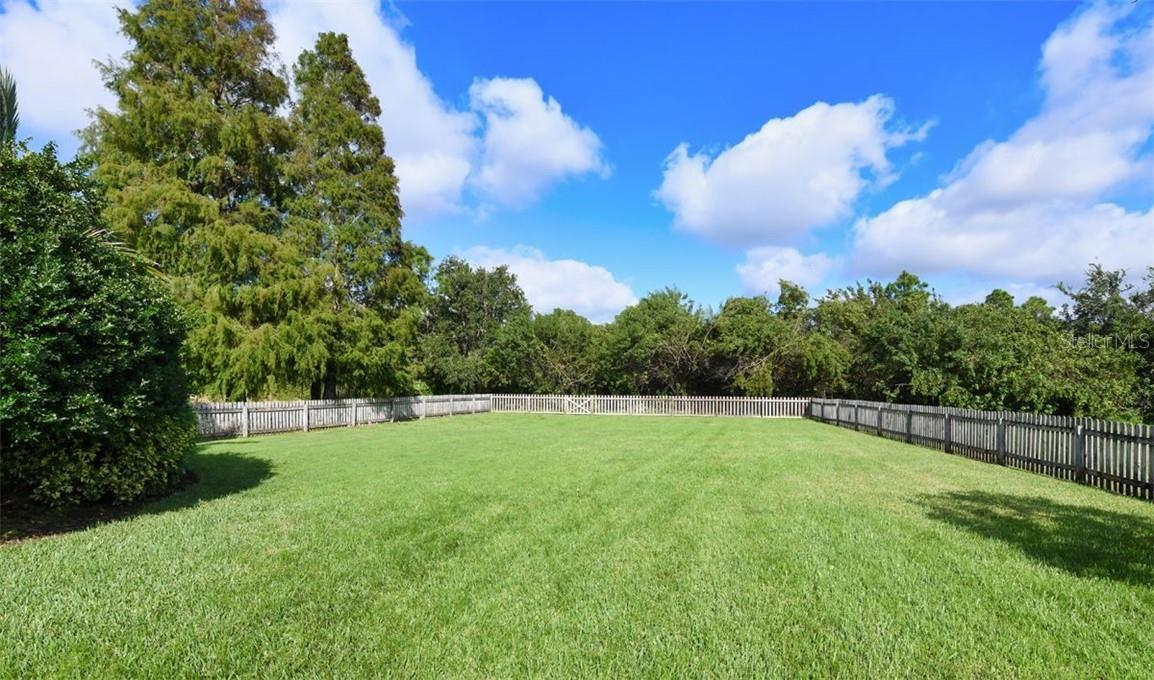 Approximately 1/2 acre fence yard - perfect for your furry friends - Single Family Home for sale at 7832 Panther Ridge Trl, Bradenton, FL 34202 - MLS Number is A4483837
