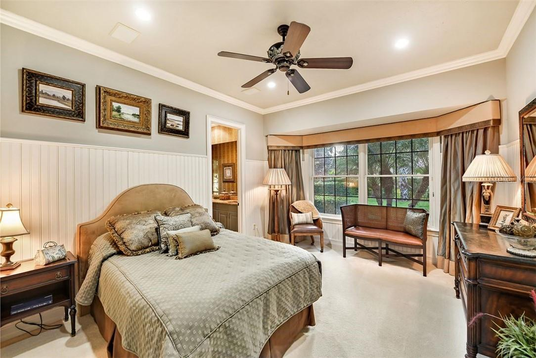 GUEST SUITE:  2 - FULL OR QUEEN BED WITH ENSUITE 3/4 BATHROOM , FRENCH DOOR TO THE POOL & PATIO - Single Family Home for sale at 8263 Archers Ct, Sarasota, FL 34240 - MLS Number is A4483993