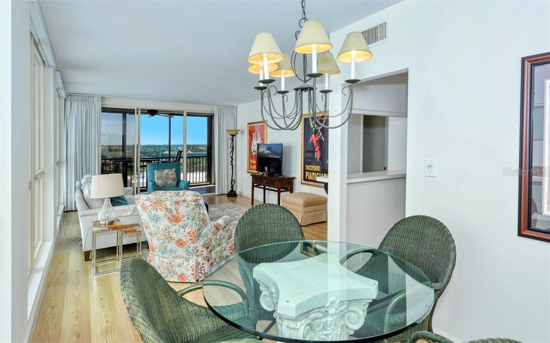Living/Dining Room - Condo for sale at 707 S Gulfstream Ave #1002, Sarasota, FL 34236 - MLS Number is A4484781