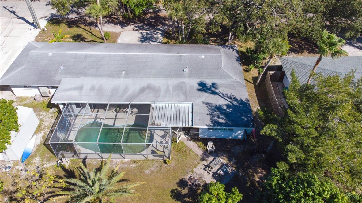 Overhead View - Duplex/Triplex for sale at 6536 Peacock Rd, Sarasota, FL 34242 - MLS Number is A4490204