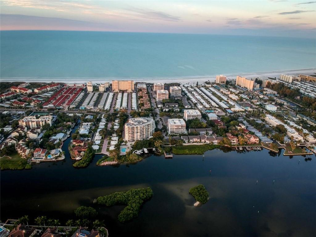 Ariel View of the Peppertree Complex Gulf to Bay Complex - Condo for sale at 1087 W Peppertree Dr #221d, Sarasota, FL 34242 - MLS Number is A4493593