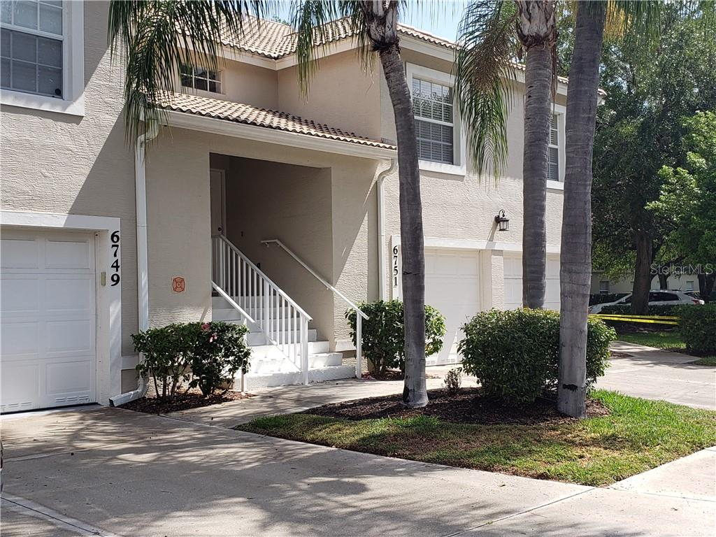 Front of the building - Condo for sale at 6749 Fairview Ter #201, Bradenton, FL 34203 - MLS Number is A4497580