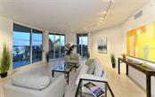 Living room with Sarasota Bay views - Condo for sale at 500 S Palm Ave #41, Sarasota, FL 34236 - MLS Number is A4144835