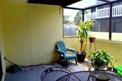 Back Patio with screen lanai - Condo for sale at 1749 Dawn St S #303, Sarasota, FL 34231 - MLS Number is A4186116