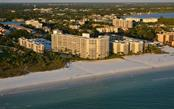Aerial view of Crystal Sands and beach - Condo for sale at 6300 Midnight Pass Rd #806, Sarasota, FL 34242 - MLS Number is A4189340