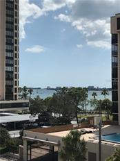 A sparkling bay view from the terrace of residence 402 - Condo for sale at 711 S Palm Ave #402, Sarasota, FL 34236 - MLS Number is A4205921