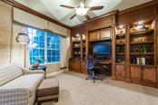 Handsome wood built-in desk area provides plenty of storage. - Single Family Home for sale at 12312 Newcastle Pl, Lakewood Ranch, FL 34202 - MLS Number is A4403090
