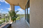 Balcony off Master Bedroom - Condo for sale at 1300 Benjamin Franklin Dr #507, Sarasota, FL 34236 - MLS Number is A4403882