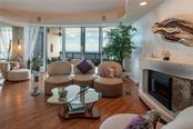 Gulf views from the living room. - Condo for sale at 435 L Ambiance Dr #k806, Longboat Key, FL 34228 - MLS Number is A4406683