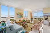 Living Room with Phenomenal Views - Condo for sale at 1350 Main St #1510, Sarasota, FL 34236 - MLS Number is A4412247
