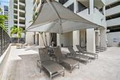 Pool & Patio area. - Condo for sale at 1255 N Gulfstream Ave #1502, Sarasota, FL 34236 - MLS Number is A4413205