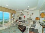 Family Room - Floor to Ceiling Walls of Glass - Condo for sale at 2399 Gulf Of Mexico Dr #3c3, Longboat Key, FL 34228 - MLS Number is A4421722