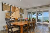 Dining w/ Gulf of Mexico View - Single Family Home for sale at 7340 Point Of Rocks Rd, Sarasota, FL 34242 - MLS Number is A4461841