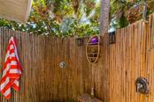 Outdoor Shower on Gulf Side of Main Residence - Single Family Home for sale at 7340 Point Of Rocks Rd, Sarasota, FL 34242 - MLS Number is A4461841
