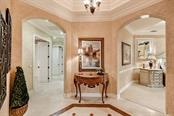 The Master Retreat Vestibule , the double doors off the Grande Room lend itself for serene privacy - Single Family Home for sale at 8263 Archers Ct, Sarasota, FL 34240 - MLS Number is A4483993