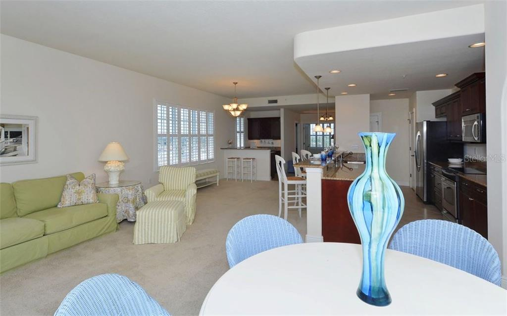Interior Layout from Balcony - Condo for sale at 157 Tampa Ave E #608, Venice, FL 34285 - MLS Number is N5912899