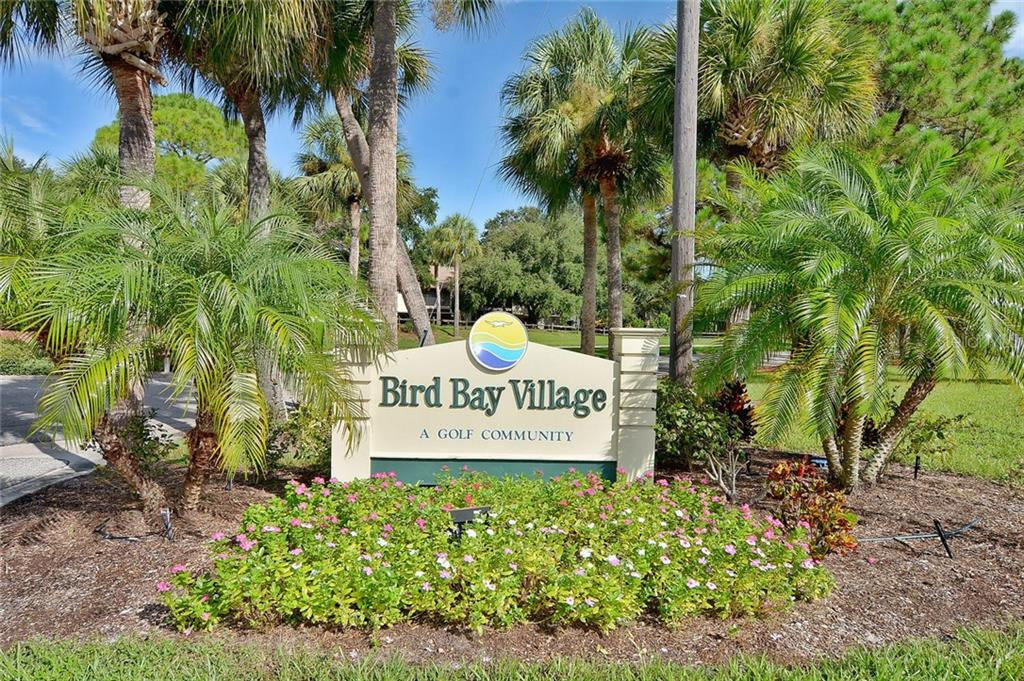 Community sign - Condo for sale at 654 Bird Bay Dr E #201, Venice, FL 34285 - MLS Number is N6101101