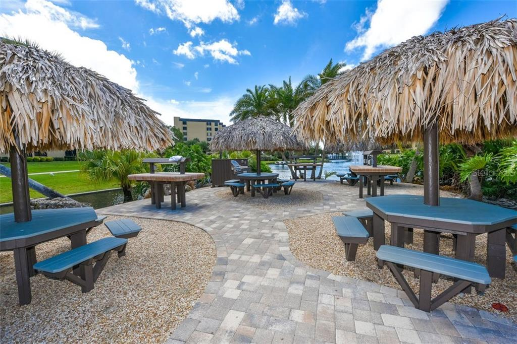 BBQ AREA AND TABLES - Condo for sale at 5740 Midnight Pass Rd #505 F, Sarasota, FL 34242 - MLS Number is N6102195