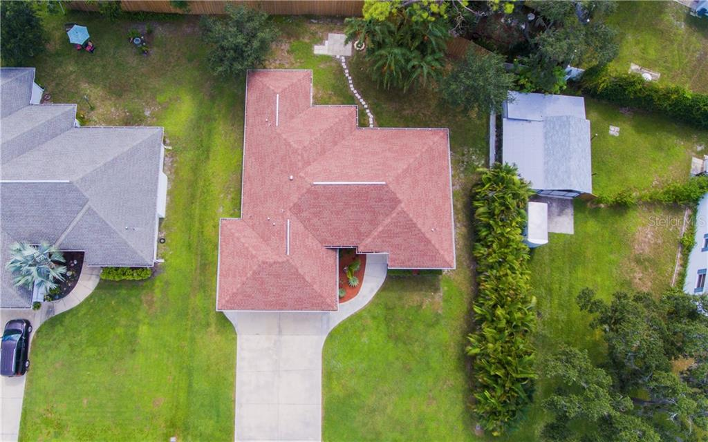 Looking down on the house - Single Family Home for sale at 409 Palm Ave, Nokomis, FL 34275 - MLS Number is N6102313